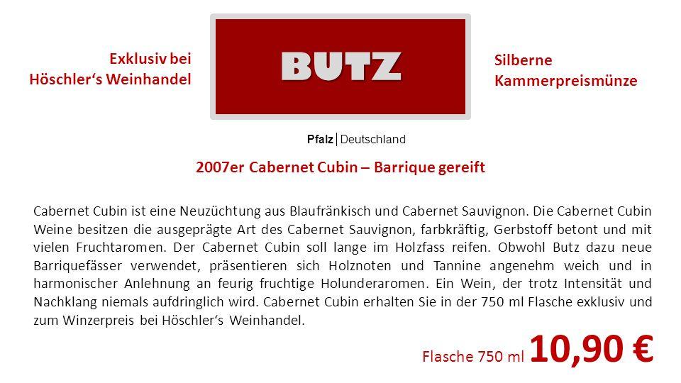 BUTZ Silberne Kammerpreismünze Exklusiv bei Höschler's Weinhandel
