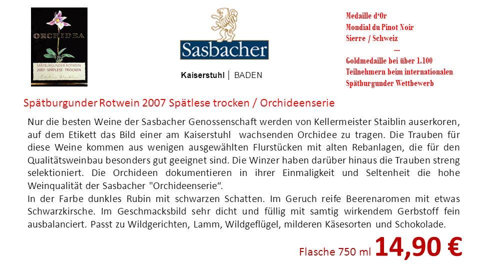 Spätburgunder Rotwein 2007 Spätlese trocken / Orchideenserie