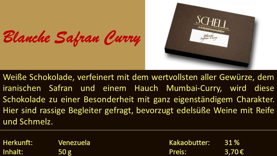 Blanche Safran Curry