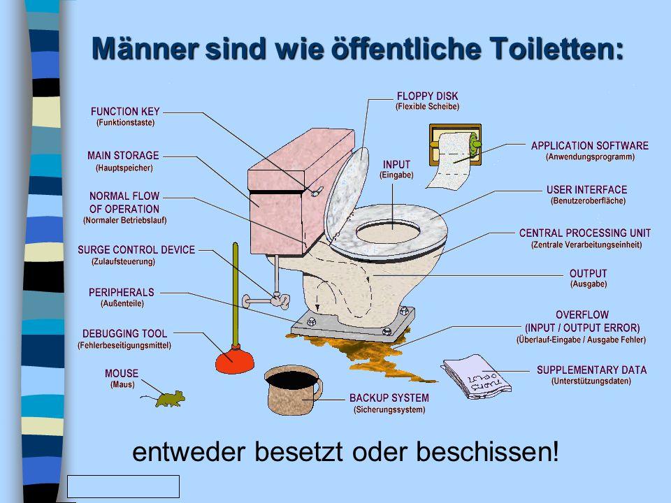 Männer sind wie öffentliche Toiletten: