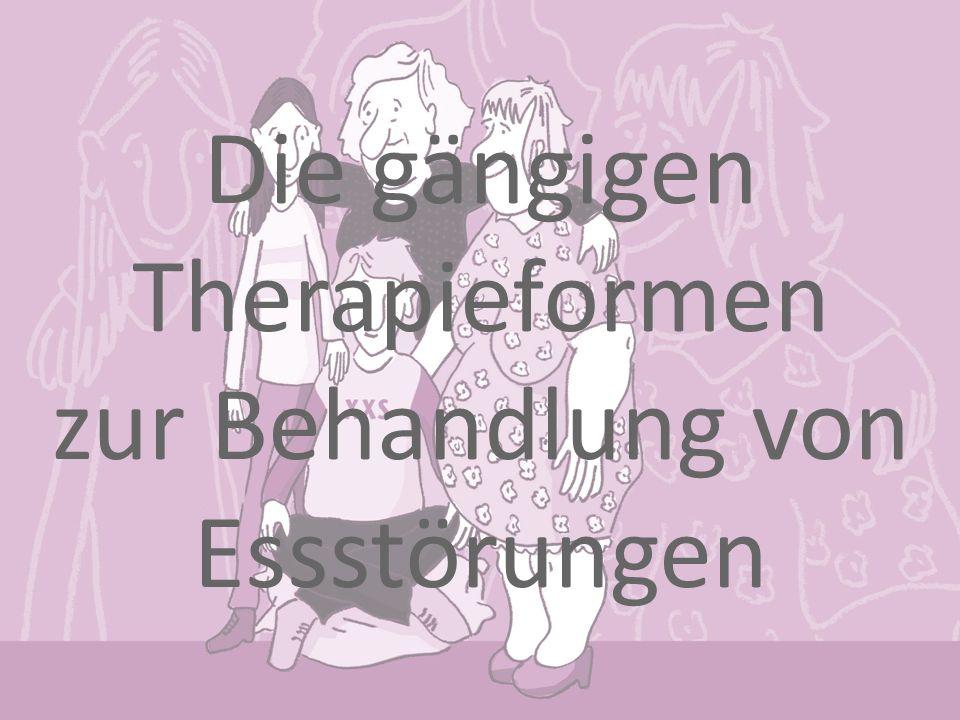 Die gängigen Therapieformen zur Behandlung von Essstörungen