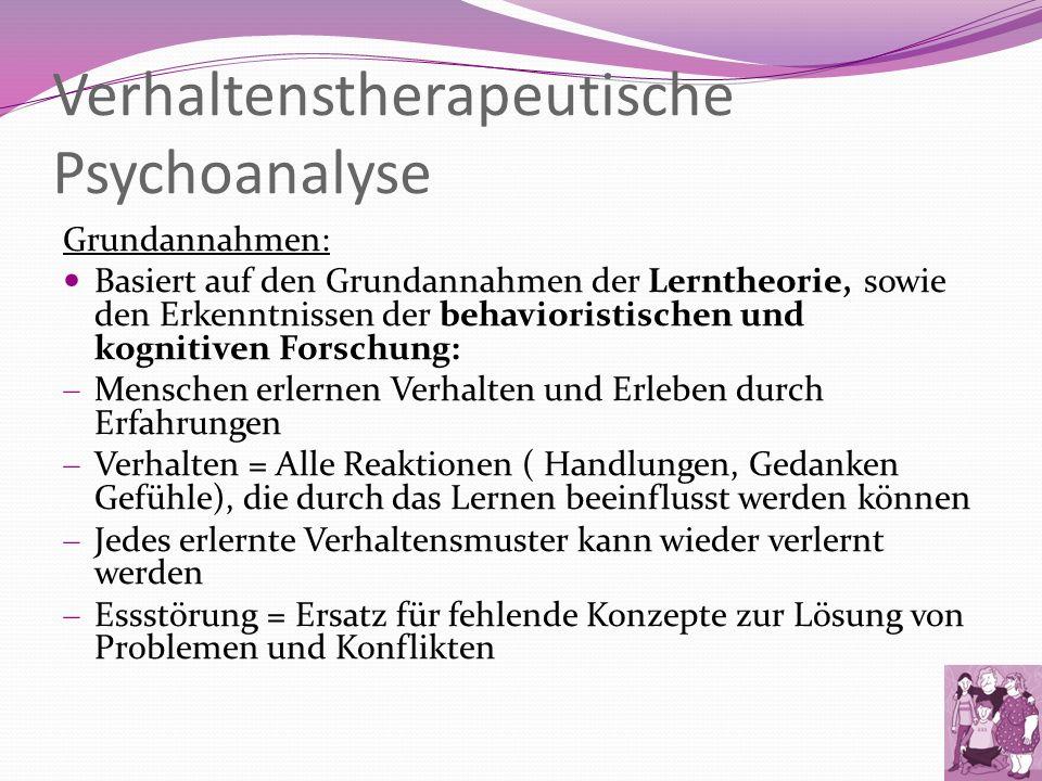 Verhaltenstherapeutische Psychoanalyse