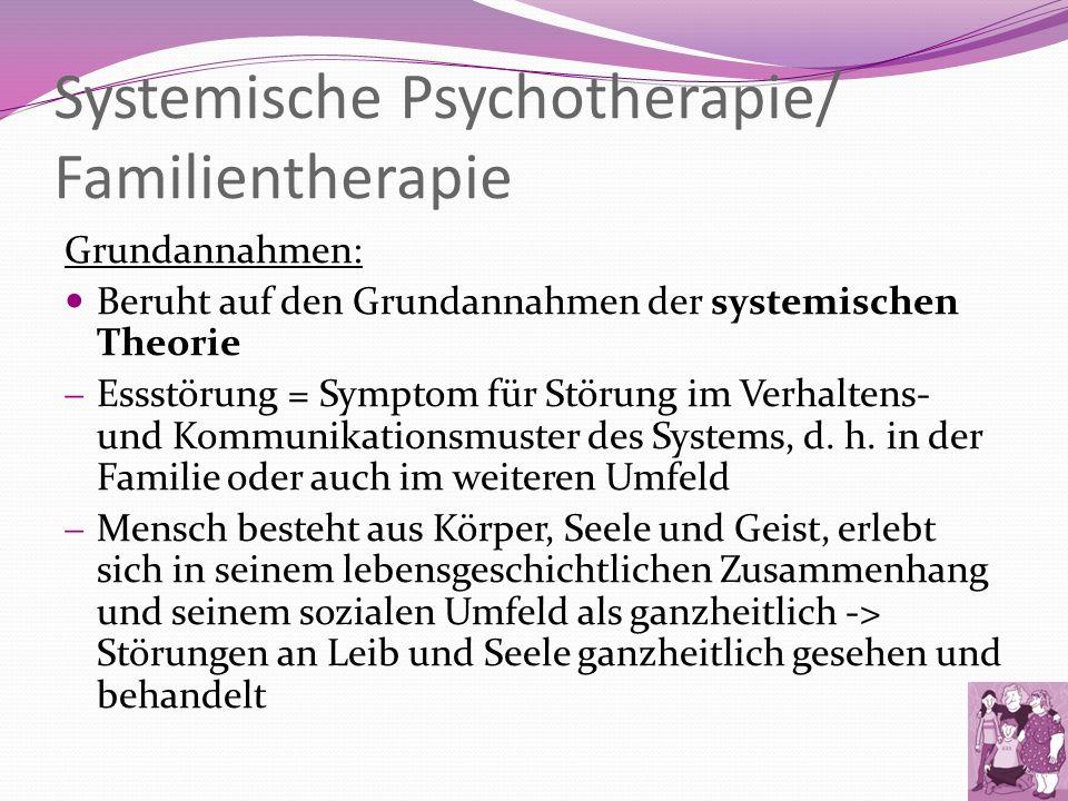 Systemische Psychotherapie/ Familientherapie