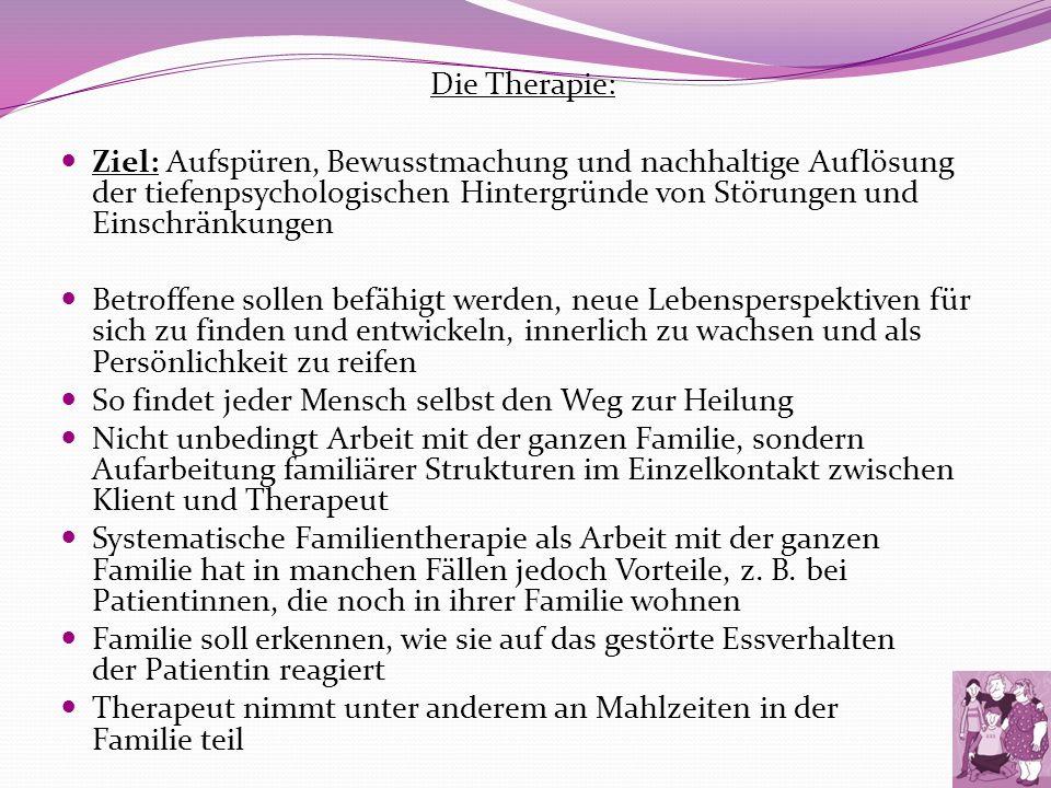 Die Therapie: Ziel: Aufspüren, Bewusstmachung und nachhaltige Auflösung der tiefenpsychologischen Hintergründe von Störungen und Einschränkungen.