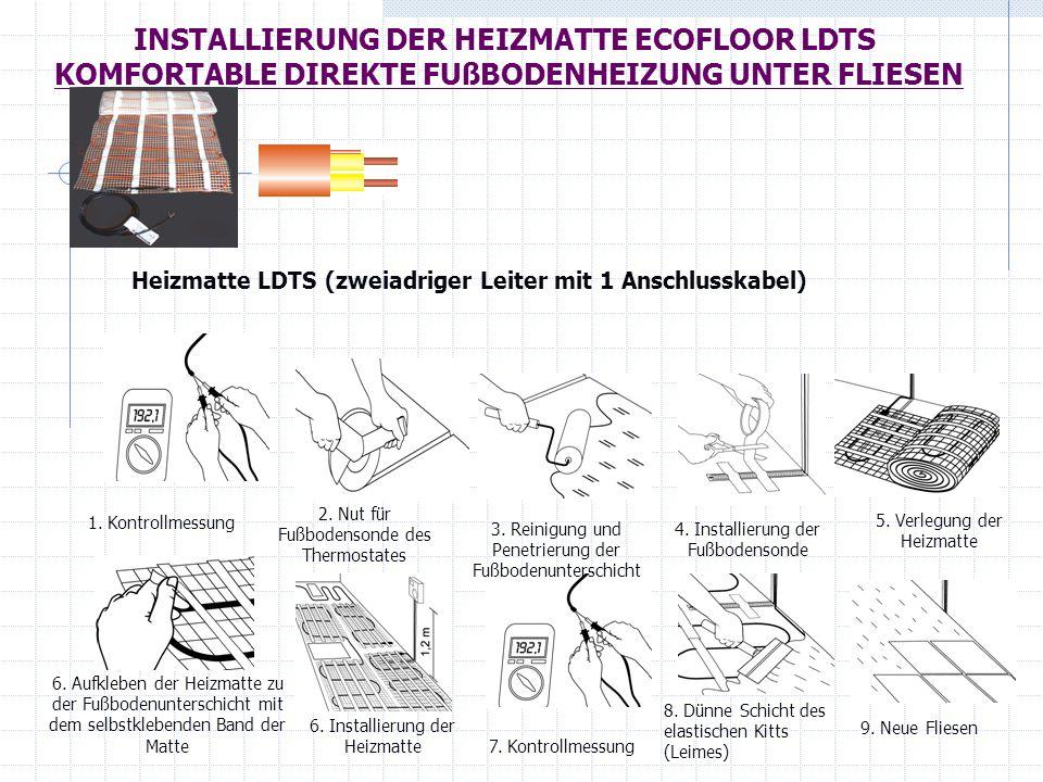 Heizmatte LDTS (zweiadriger Leiter mit 1 Anschlusskabel)