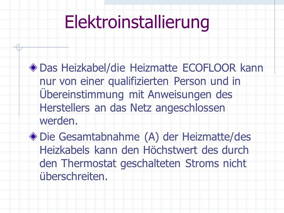 Elektroinstallierung