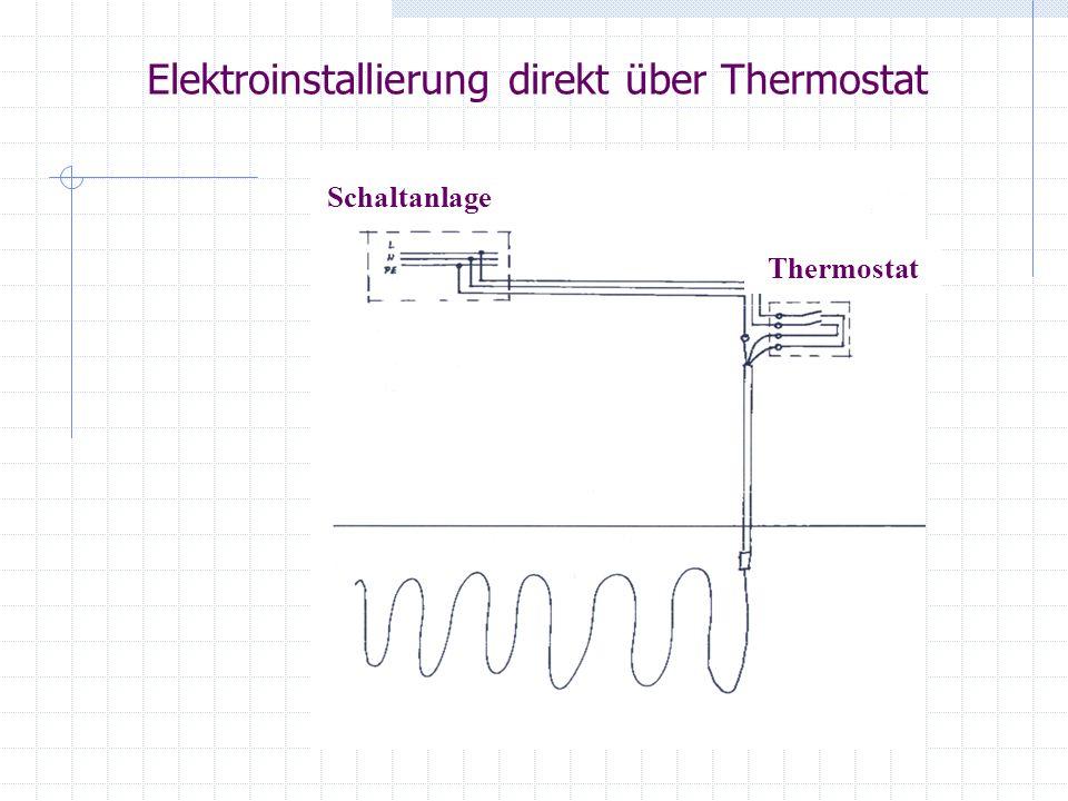 Elektroinstallierung direkt über Thermostat