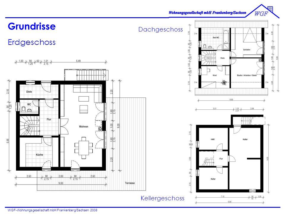 Grundrisse Erdgeschoss Dachgeschoss Kellergeschoss