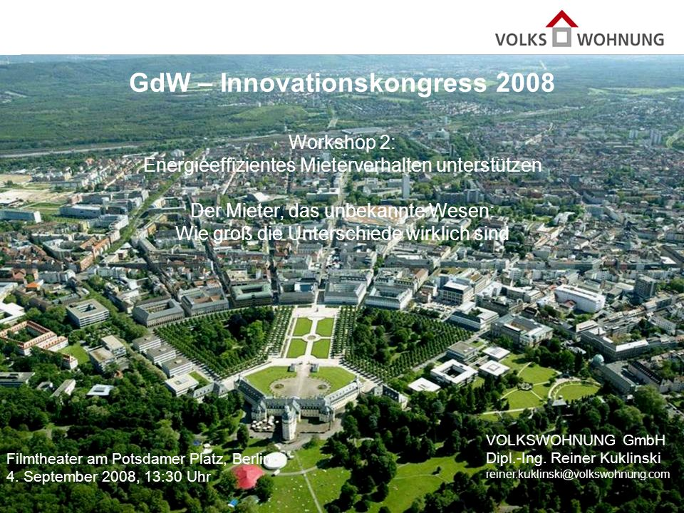 GdW – Innovationskongress 2008