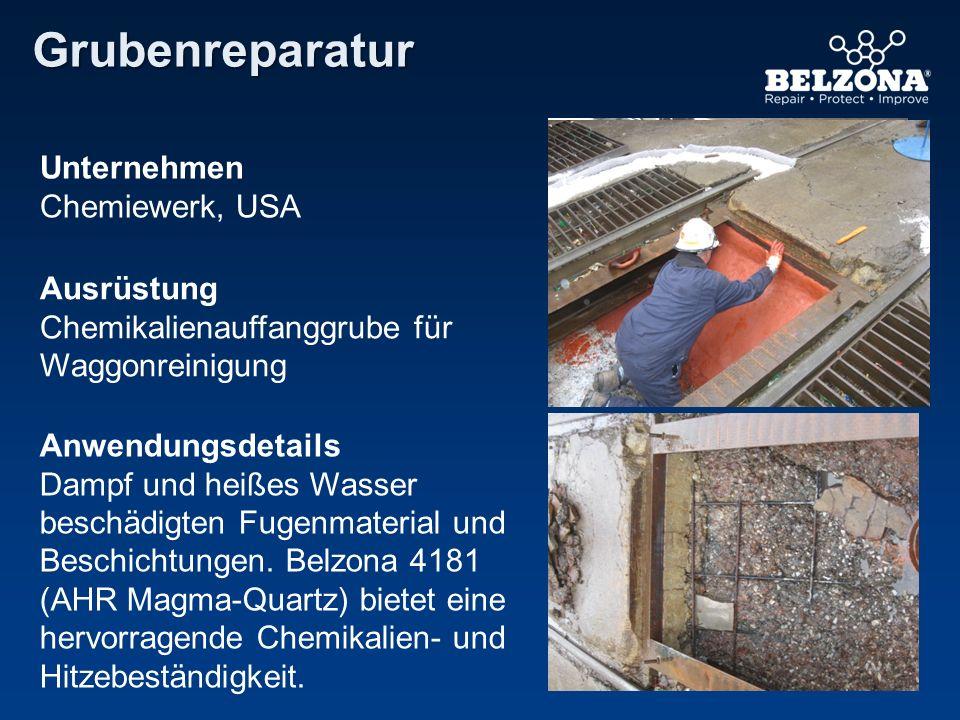 Grubenreparatur Unternehmen Chemiewerk, USA Ausrüstung