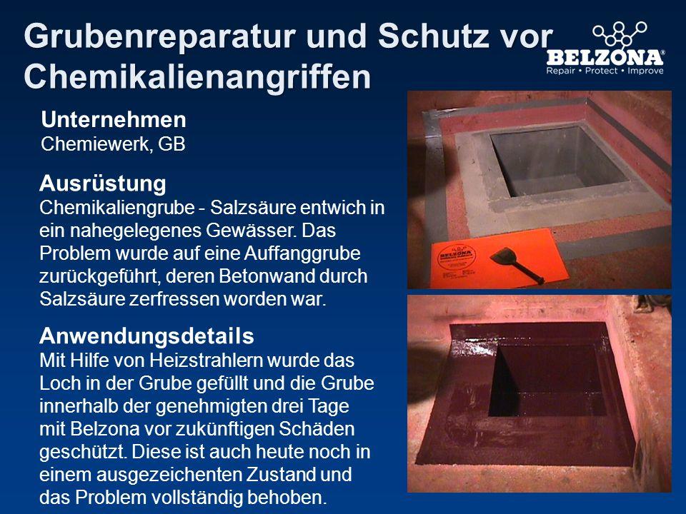 Grubenreparatur und Schutz vor Chemikalienangriffen