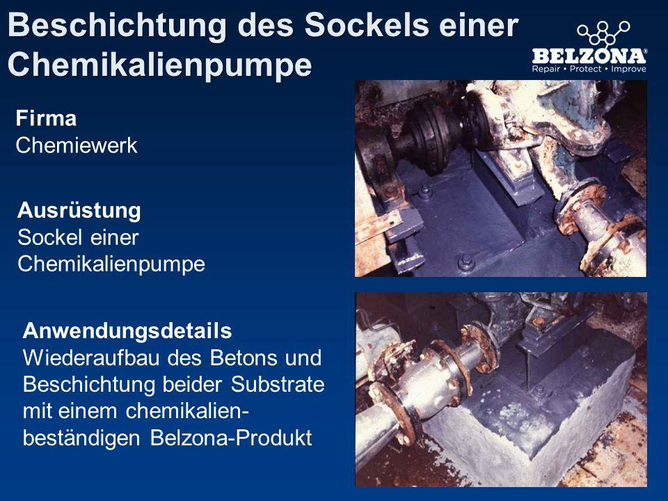 Beschichtung des Sockels einer Chemikalienpumpe
