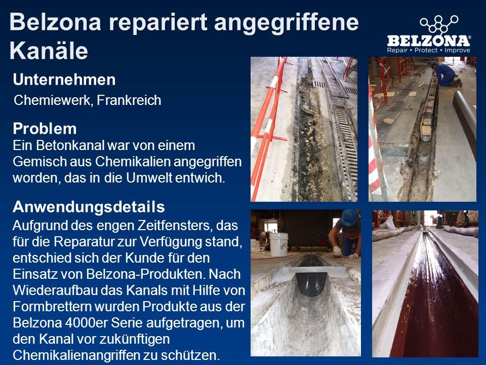 Belzona repariert angegriffene Kanäle