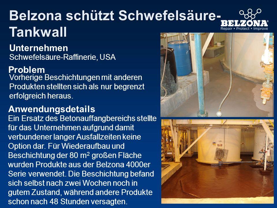 Belzona schützt Schwefelsäure-Tankwall