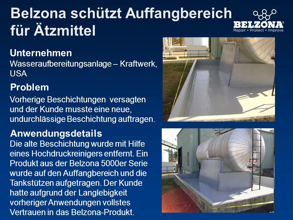 Belzona schützt Auffangbereich für Ätzmittel