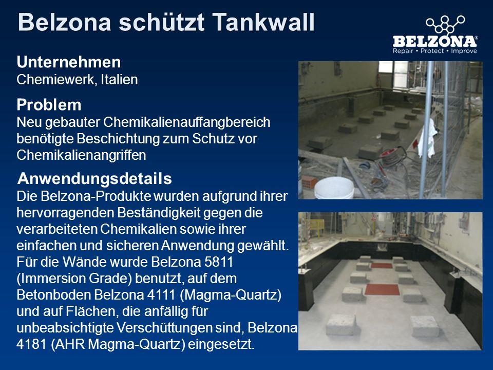 Belzona schützt Tankwall