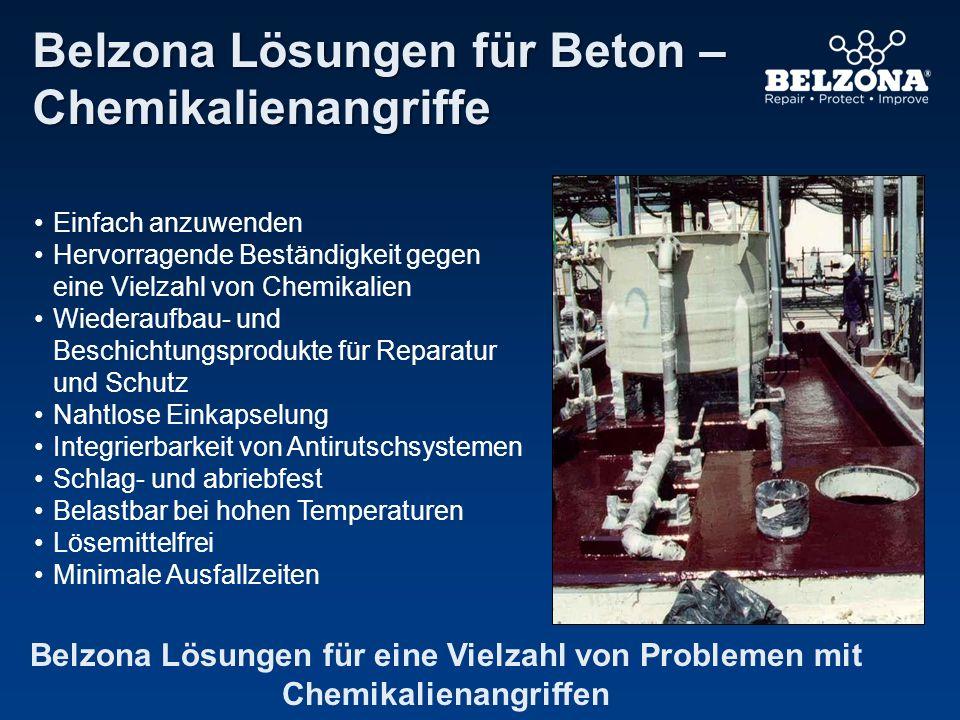 Belzona Lösungen für Beton – Chemikalienangriffe