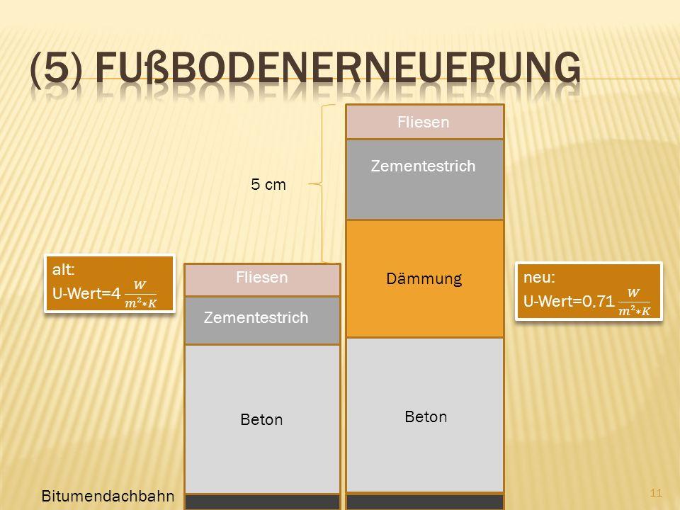 (5) Fußbodenerneuerung