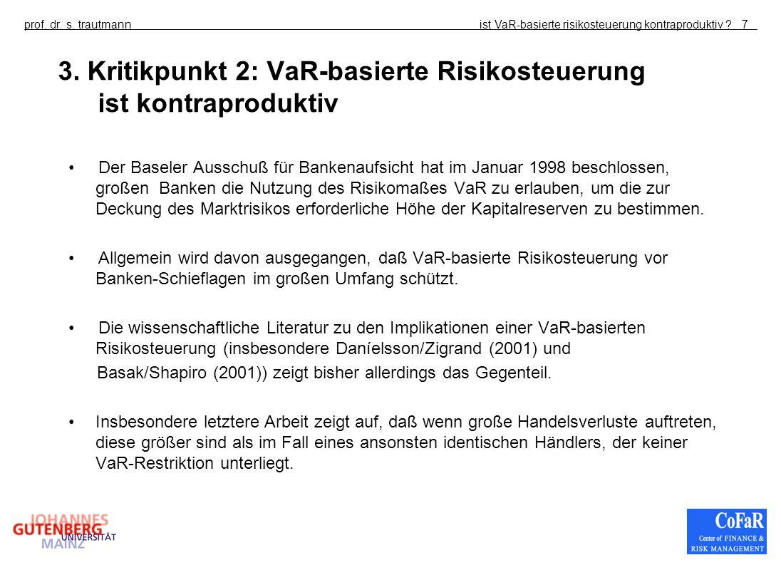 3. Kritikpunkt 2: VaR-basierte Risikosteuerung ist kontraproduktiv