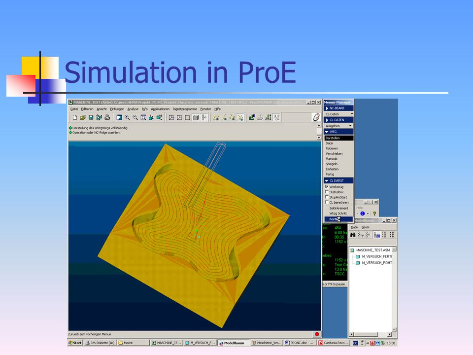 Simulation in ProE