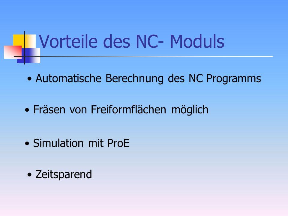 Vorteile des NC- Moduls