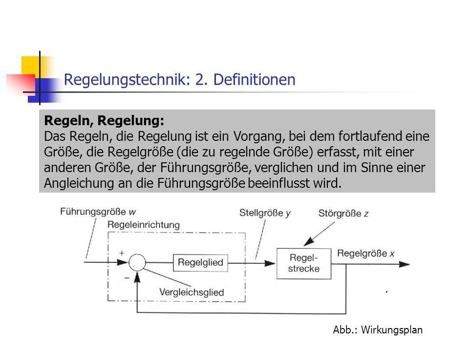 Regelungstechnik: 2. Definitionen
