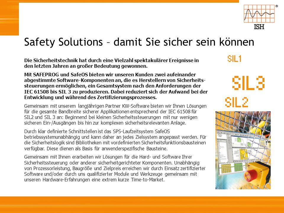 Safety Solutions – damit Sie sicher sein können