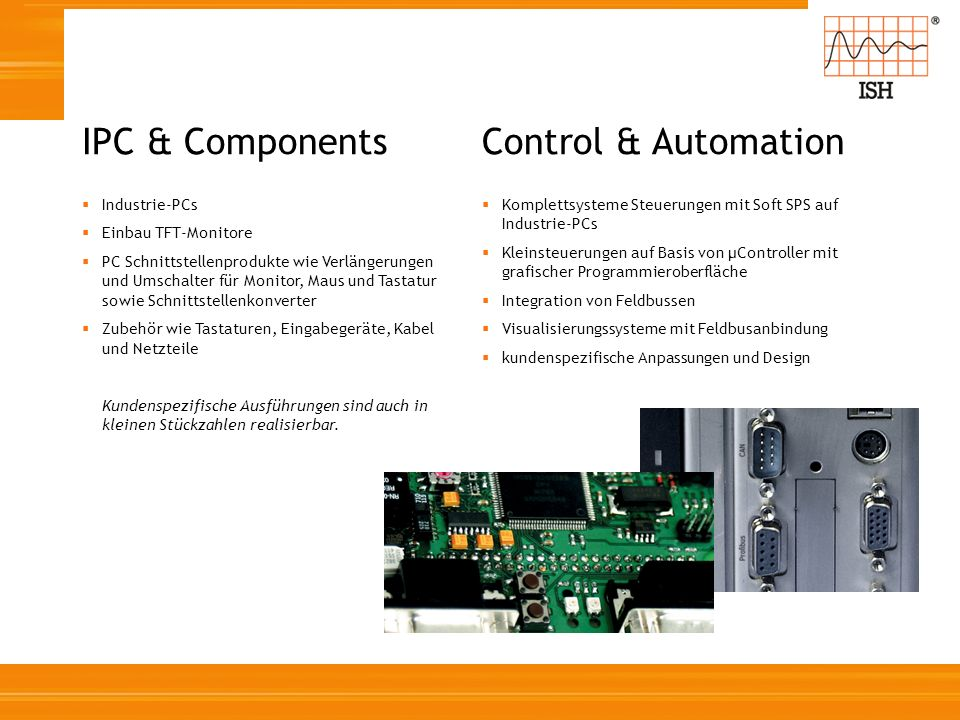 IPC & Components Control & Automation Industrie-PCs