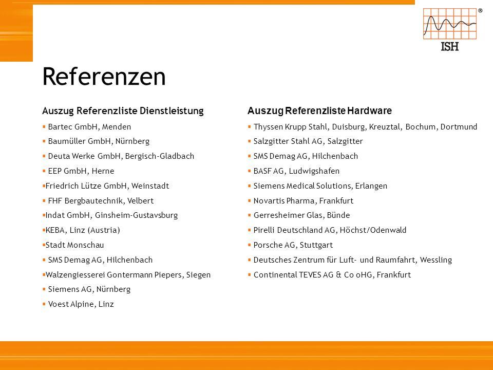 Referenzen Auszug Referenzliste Dienstleistung