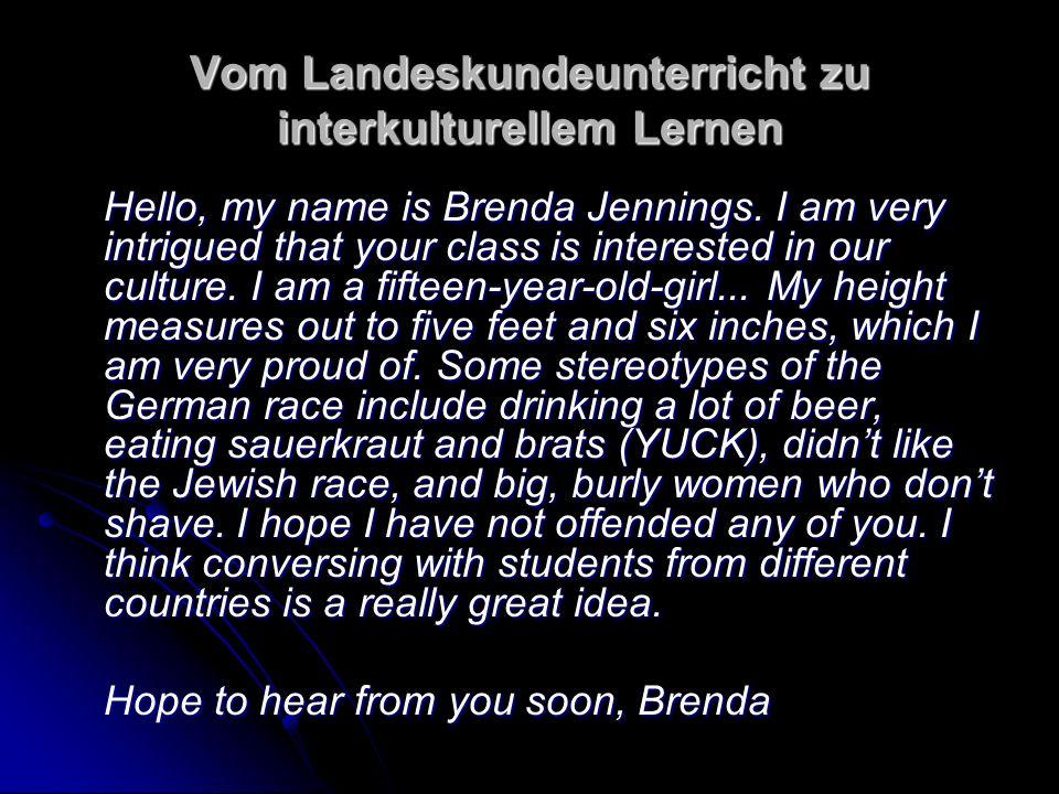 Vom Landeskundeunterricht zu interkulturellem Lernen