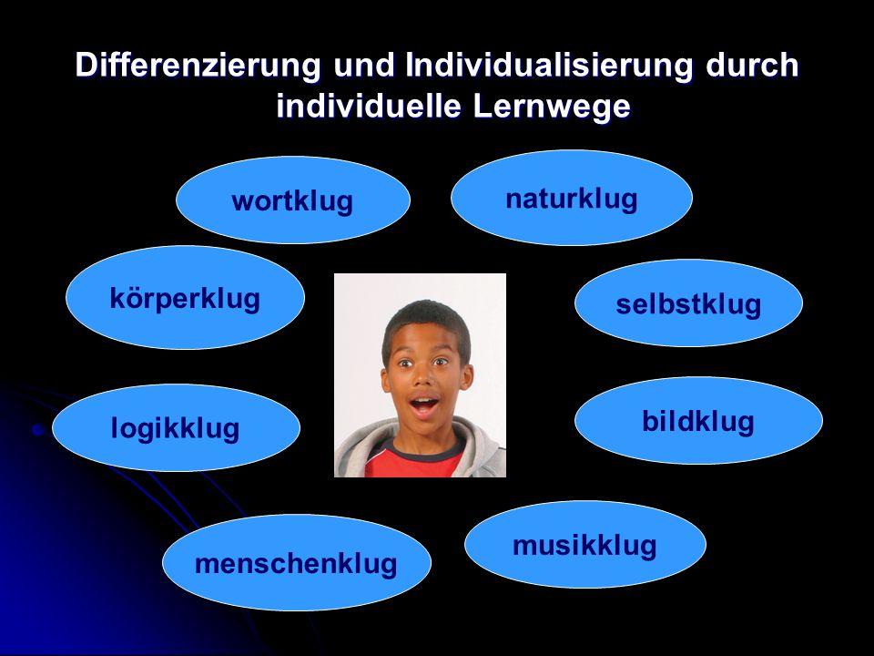 Differenzierung und Individualisierung durch individuelle Lernwege