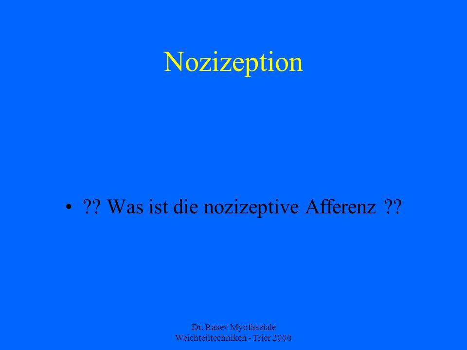 Nozizeption Was ist die nozizeptive Afferenz