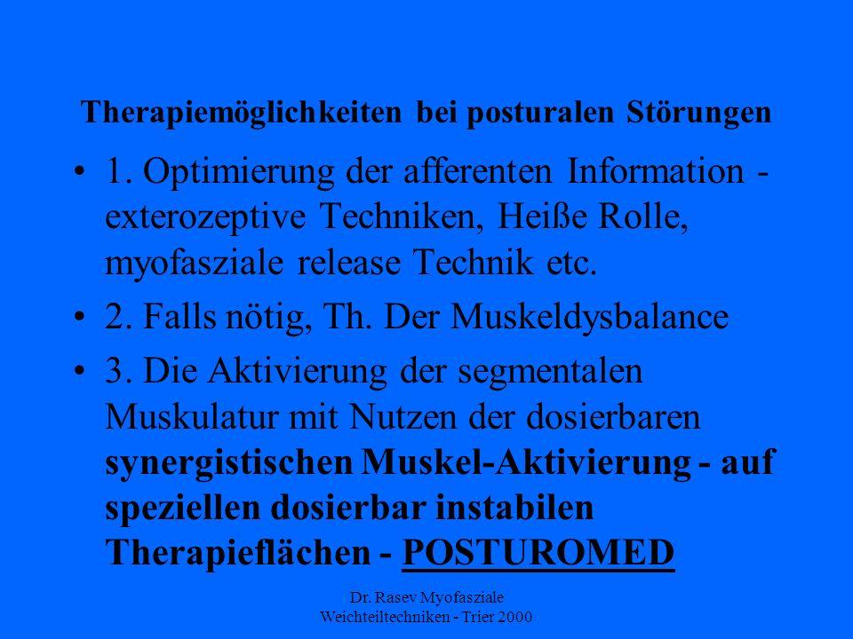 Therapiemöglichkeiten bei posturalen Störungen