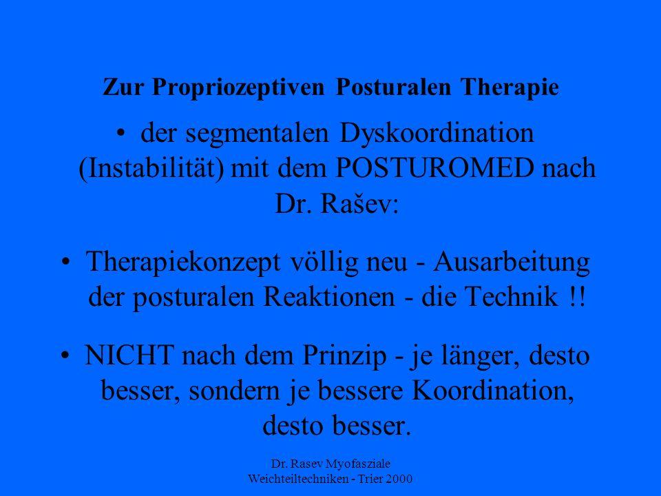 Zur Propriozeptiven Posturalen Therapie