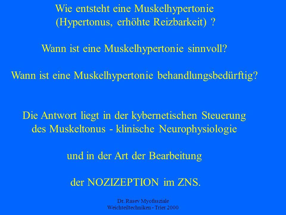 Wie entsteht eine Muskelhypertonie (Hypertonus, erhöhte Reizbarkeit)