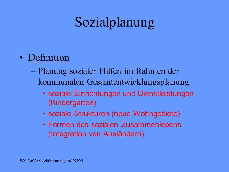 Sozialplanung Definition