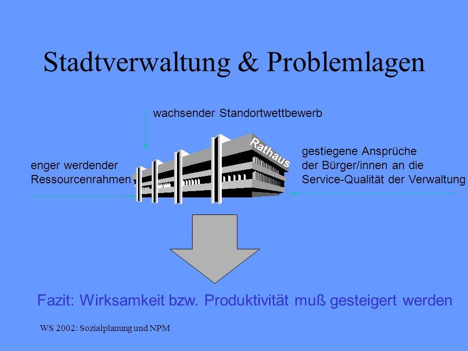 Stadtverwaltung & Problemlagen
