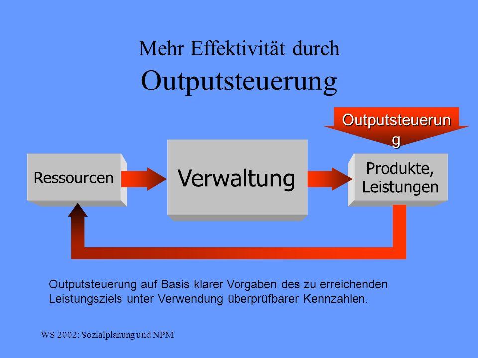 Mehr Effektivität durch Outputsteuerung