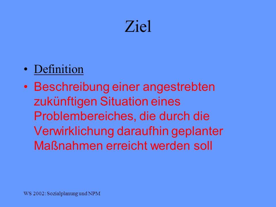 Ziel Definition.