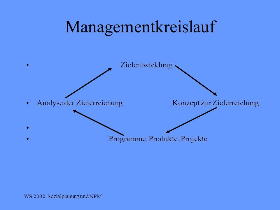 Managementkreislauf Zielentwicklung