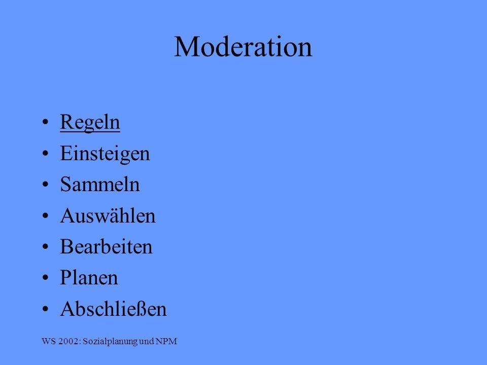 Moderation Regeln Einsteigen Sammeln Auswählen Bearbeiten Planen