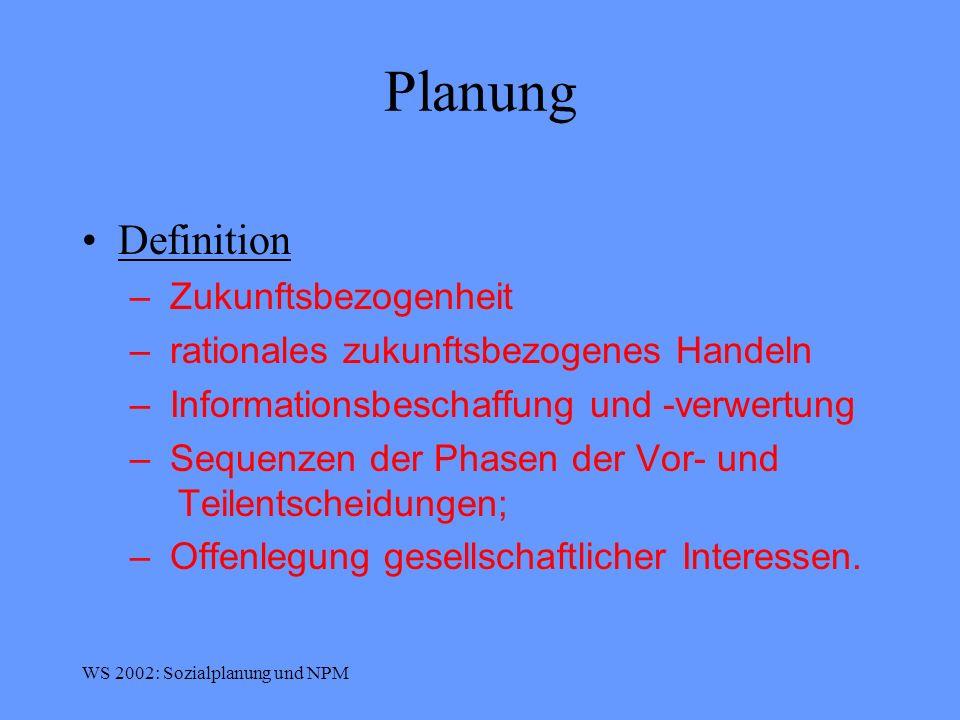 Planung Definition Zukunftsbezogenheit