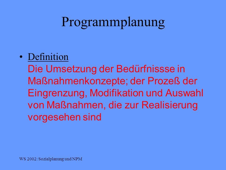 Programmplanung