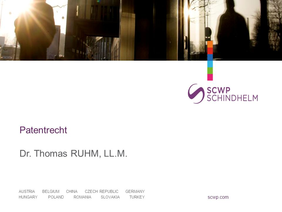 Patentrecht Dr. Thomas RUHM, LL.M.