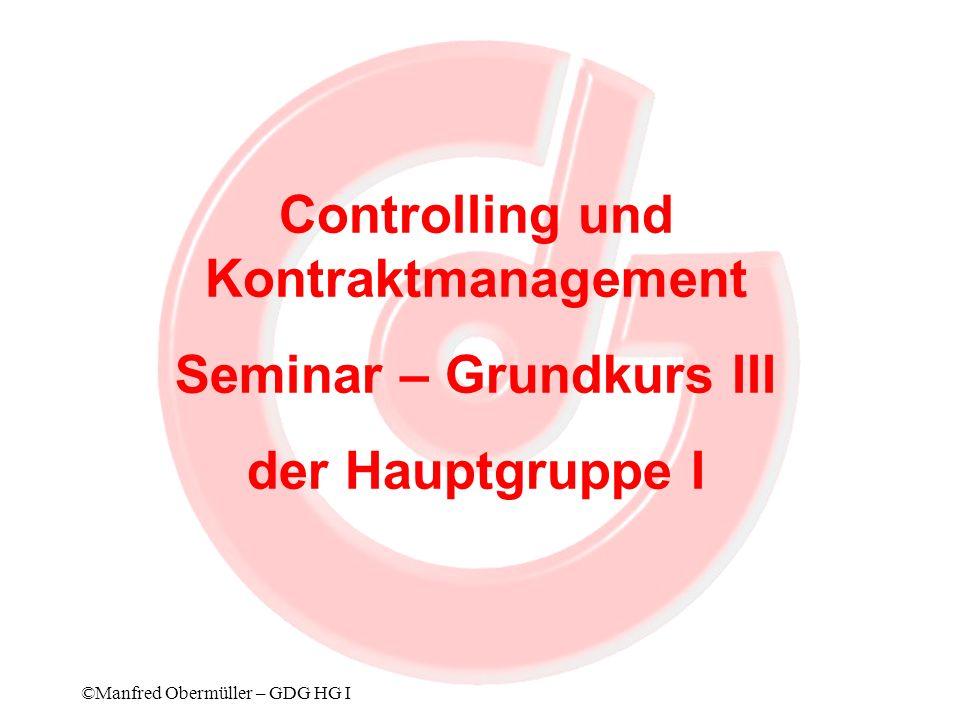Controlling und Kontraktmanagement Seminar – Grundkurs III