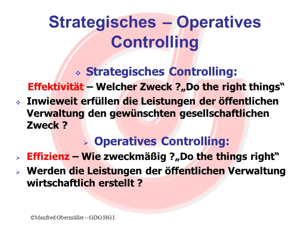 Strategisches – Operatives Controlling