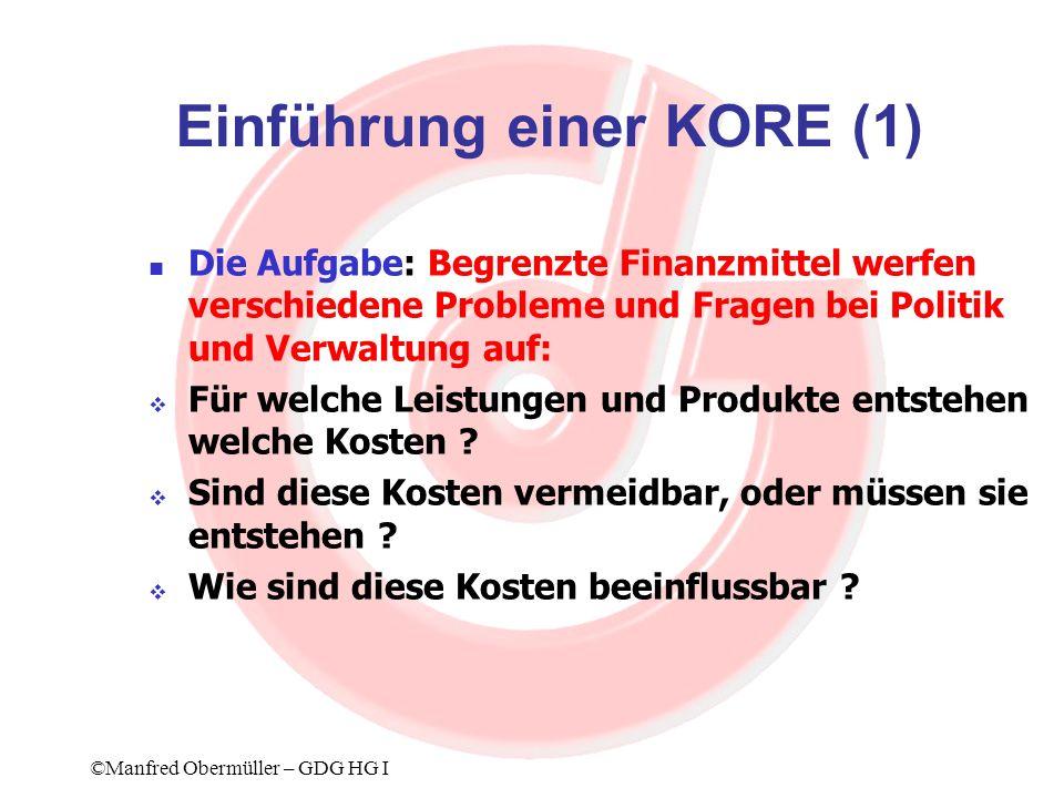 Einführung einer KORE (1)