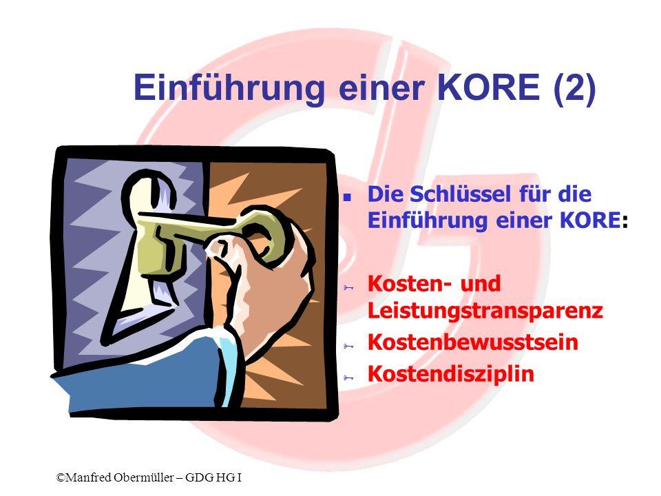 Einführung einer KORE (2)