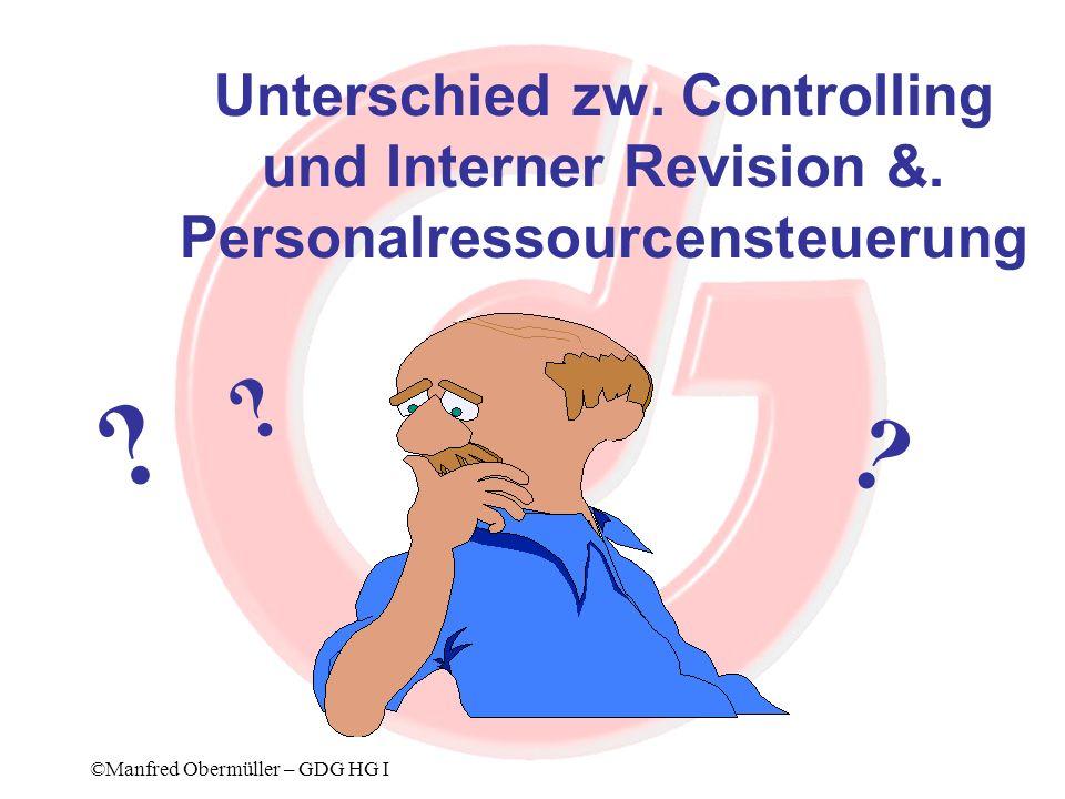 Unterschied zw. Controlling und Interner Revision &