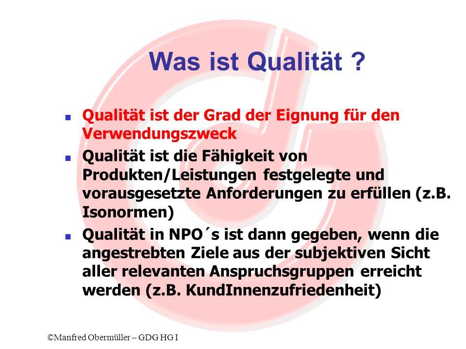Was ist Qualität Qualität ist der Grad der Eignung für den Verwendungszweck.
